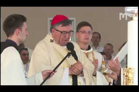 Свята Меса, яку очолив кардинал Вінко Пуліч. Младіфест, Меджуґор'є 05.08.2020