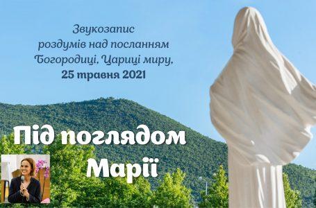 Звукозапис роздумів над посланням від 25.05.2021 (Тереза Гажійова)